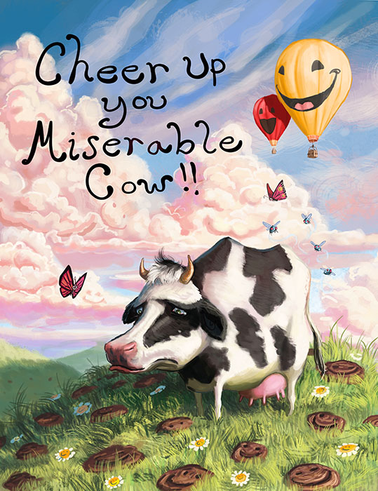 Miserable Cow small