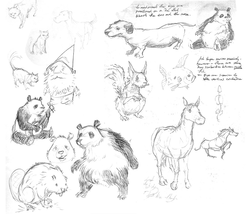sketchbook: animal sketches