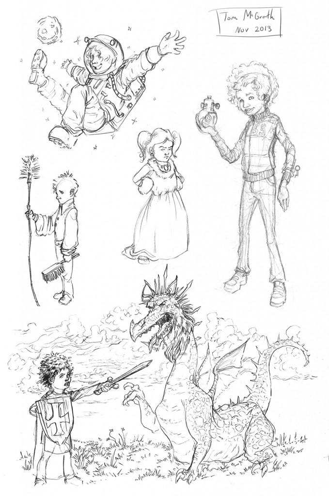 children sketches from november 2013