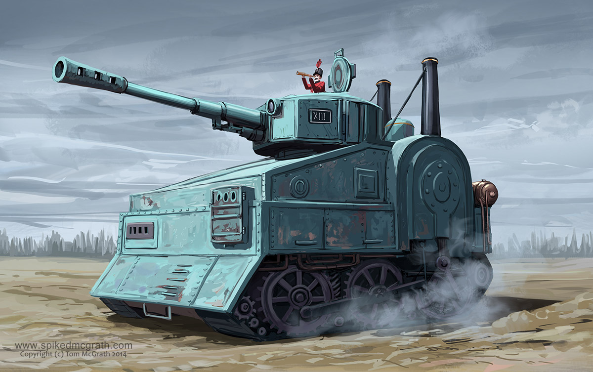 a steam powered tank