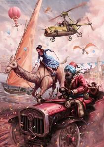 A steampunk themed race