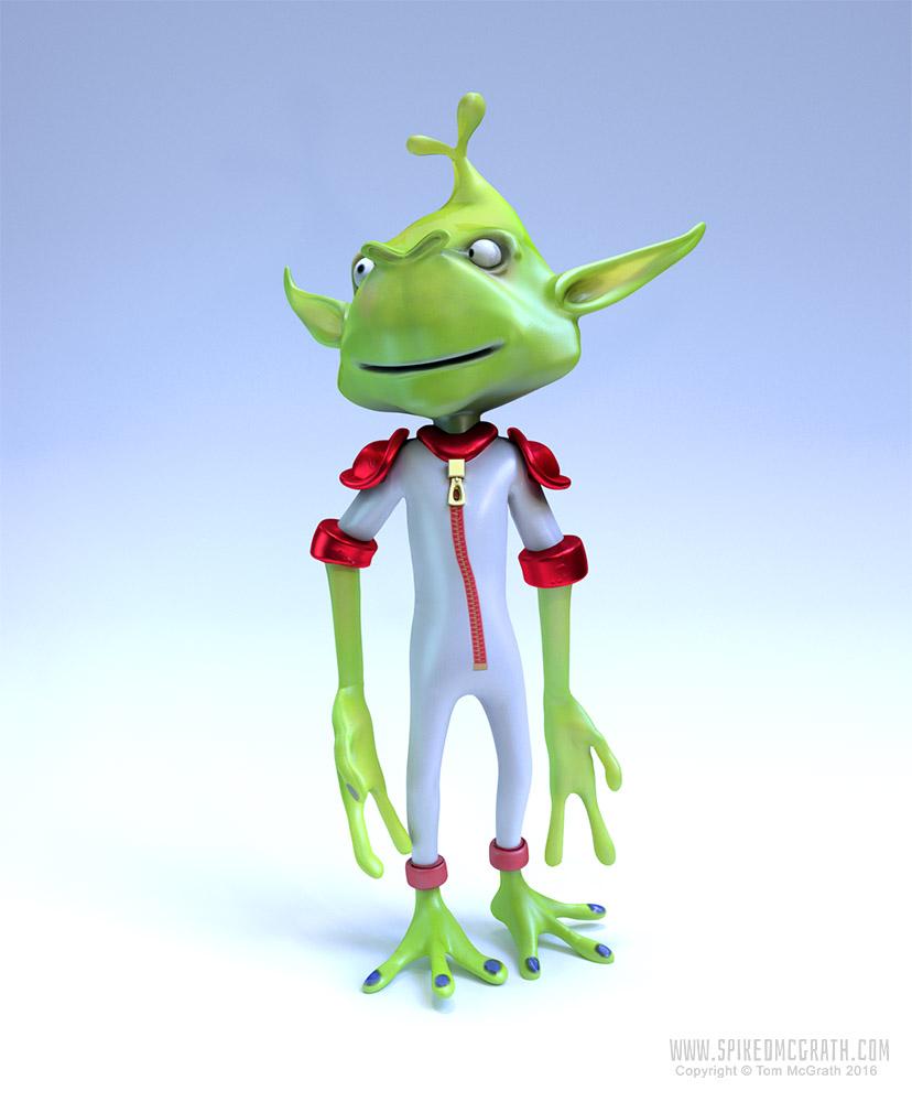 A cartoon alien