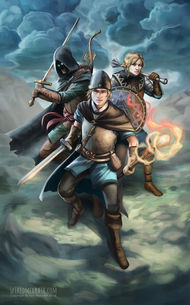 Fantasy book cover for young adult series