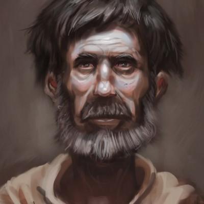 A portrait of a monk