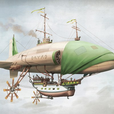 "The pirate ship ""Dryad"""