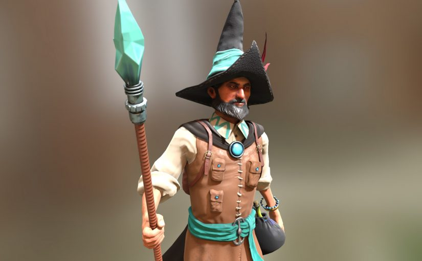 3d Game Character- Faisal the Wizard